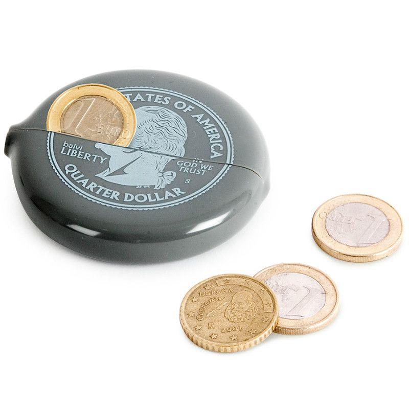 Монетница Silver QuarterПодарки<br>Монетница Silver Quarter<br>Размер: 6.5 x 7 x 1.2 см; Объем: None; Материал: Силикон; Цвет: Серый;