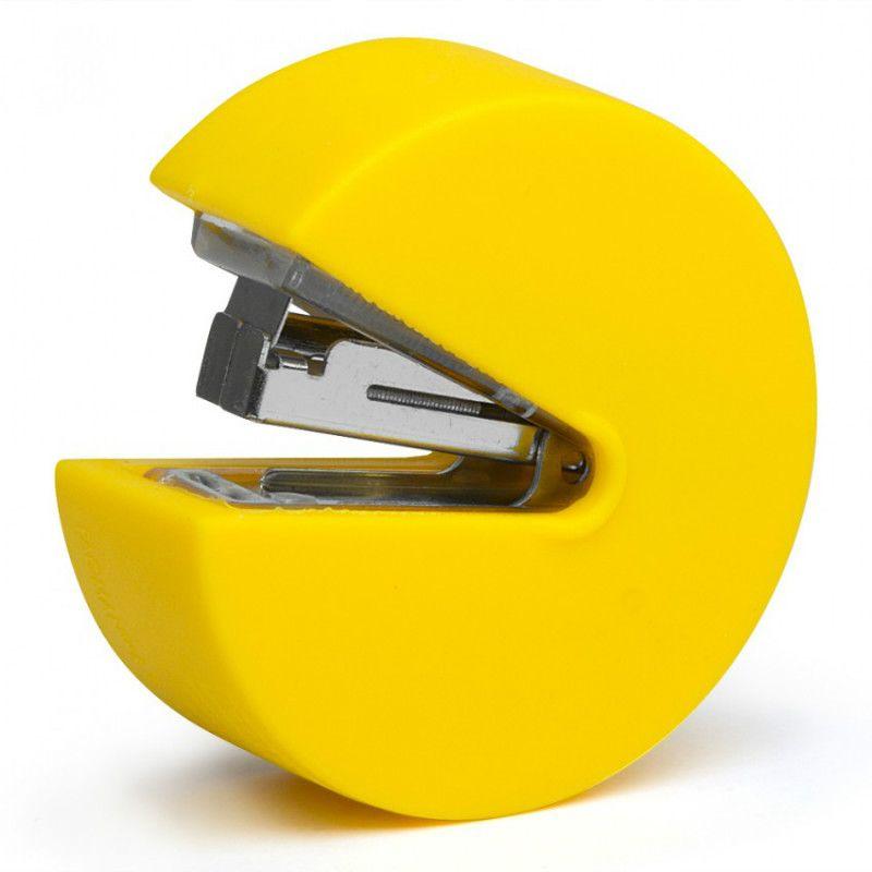 Степлер Pac-manПодарки<br>Степлер в виде компьютерного персонажа Pac-man<br>Размер: None; Объем: None; Материал: Металл, пластик; Цвет: Желтый;