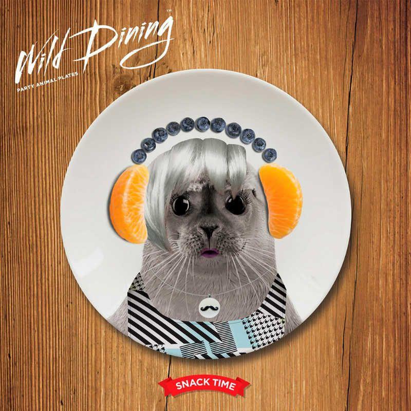 Обеденная тарелка Baby SealПодарки<br>Обеденная тарелка Baby Seal<br>Размер: 2.1 x 17.4 x 17.4 см.; Объем: None; Материал: Керамика; Цвет: None;