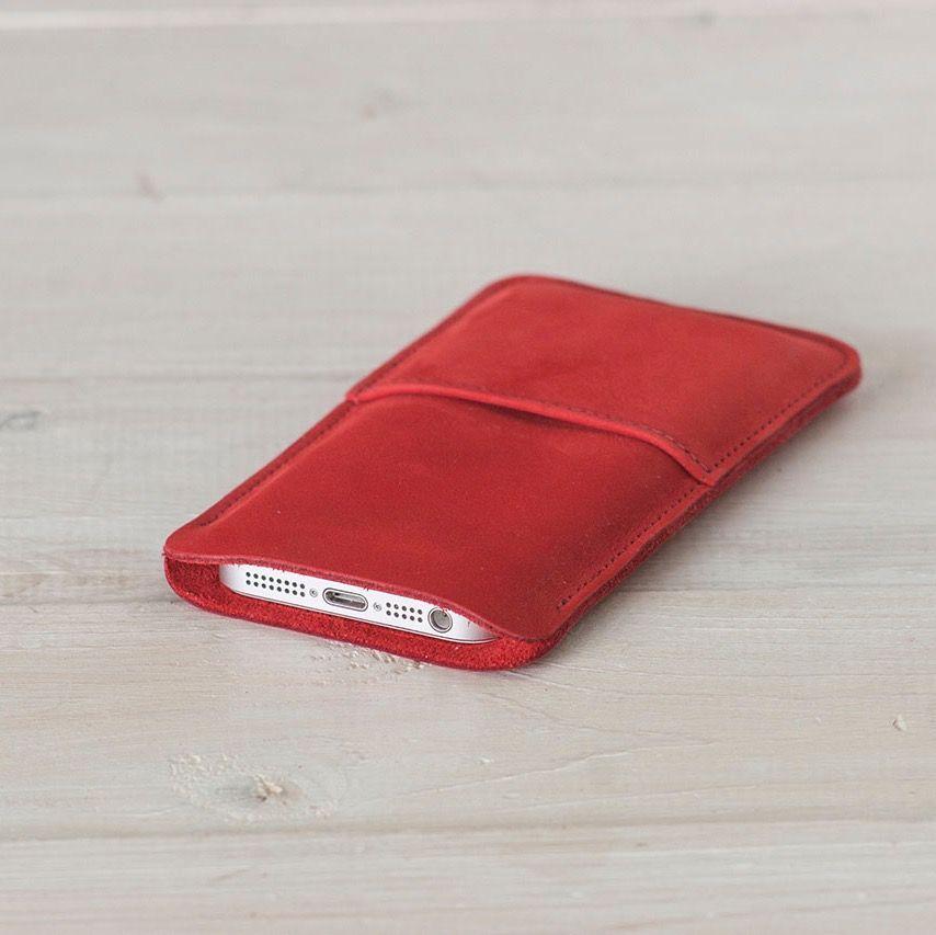 """Кожаный чехол для iPhone """"Walster"""" (Модификация: iPhone 5/5s, Цвет • Красный)"""