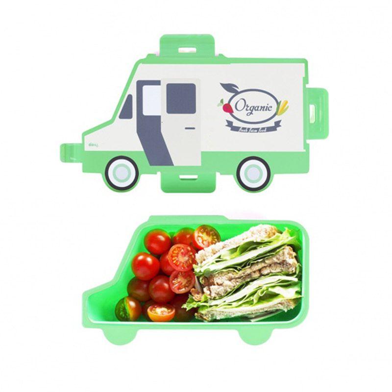 Ланч-бокс Food truck OrganicПодарки<br>Ланч-бокс Food truck Organic<br>Размер: 23 х 13 х 7 см.; Объем: None; Материал: Полипропилен; Цвет: Зеленый;