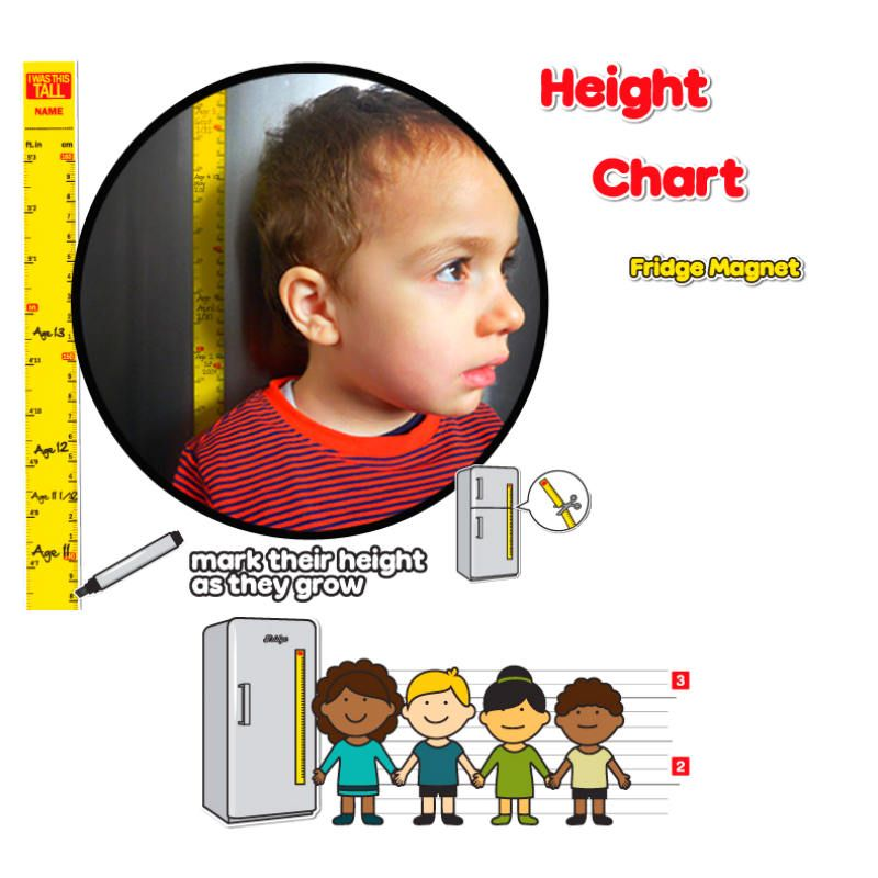 Магнитный ростомер Height ChartПодарки<br>Магнитный ростомер Height Chart<br>Размер: 2.5 х 100 х 0.1 см.; Объем: None; Материал: Магнит; Цвет: None;