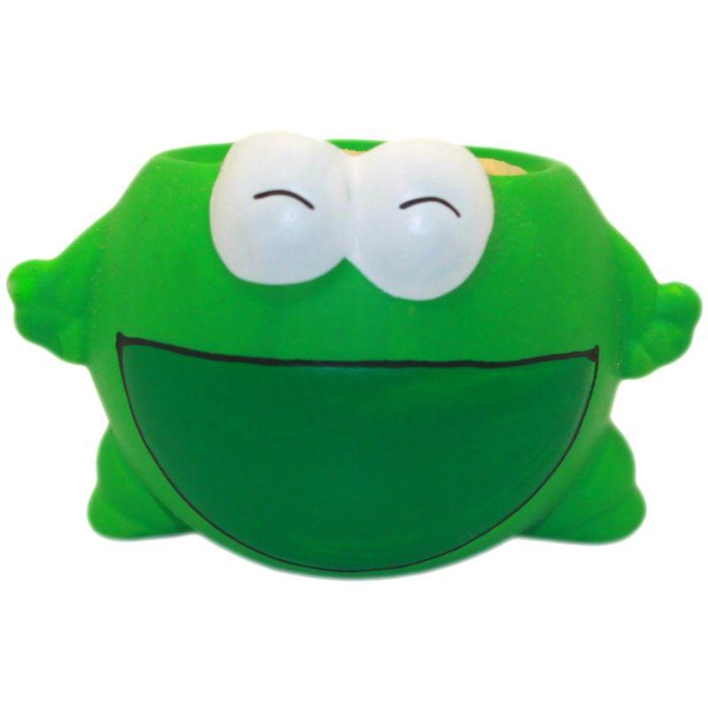 Фитоник ЛягушкаПодарки<br>Такая игрушка в увлекательной форме познакомит ребенка с основами биологии, а также научит заботиться и проявлять терпение. Фитоник также можно использовать в качестве веселого декора детской или рабочего стола.<br>Размер: 19 х 16 х 40 см; Объем: None; Материал: Керамика; Цвет: Зеленый;