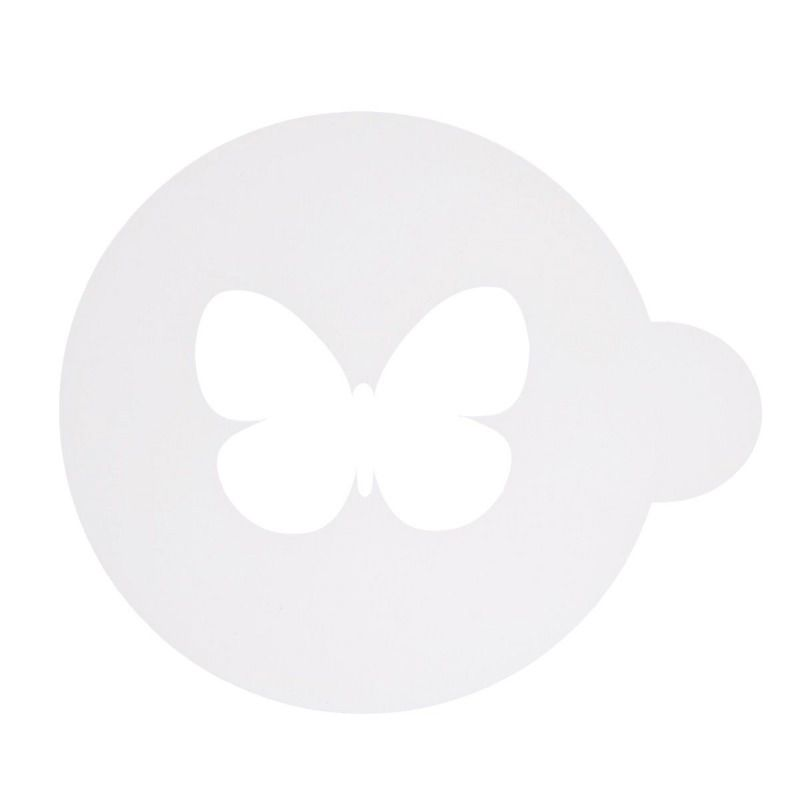 Трафарет на кофе и десерты БабочкаДля кофе и чая<br>Трафарет на кофе и десерты - Бабочка<br>Размер: None; Объем: None; Материал: Пластик; Цвет: None;
