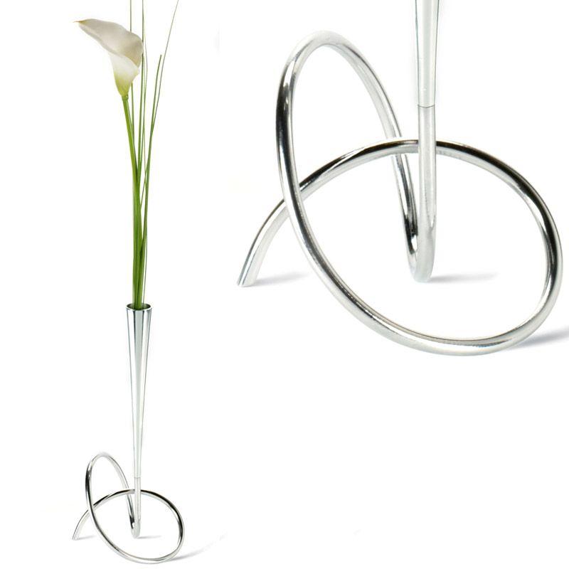Ваза для цветов LoopНеобычные вазы<br>Ваза для цветов Loop<br>Размер: 29х14х14 см; Объем: None; Материал: Хромированная сталь, пластик.; Цвет: None;