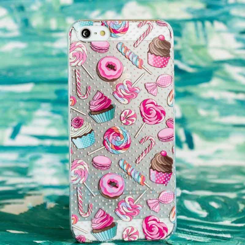 Чехол Ассорти для iPhone 6/6S (Сладости)Чехлы для телефона<br>Яркий, розовый чехол для настоящих сладкоежек.<br>Размер: None; Объем: None; Материал: Пластик; Цвет: Прозрачный;