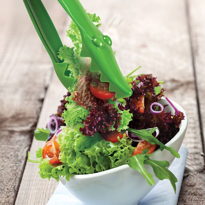 Щипцы для салата Salad SnapperКулинария<br>Щипцы для салата Крокодил (Salad Snapper)<br>Размер: 2.8 х 6 х 27.5 см.; Объем: None; Материал: Сталь, пластик; Цвет: Зеленый;