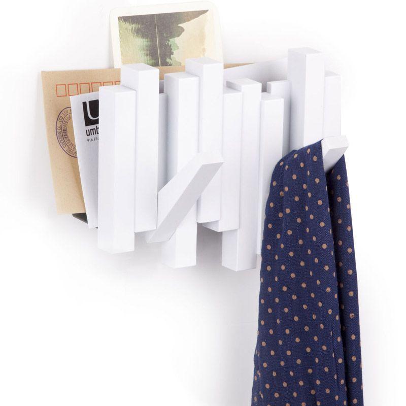Газетница-вешалка Sticks белаяПодарки<br>Газетница-вешалка Sticks белая<br>Размер: 20.3 х 17 х 6.3 см.; Объем: None; Материал: Пластик ABS; Цвет: Белый;