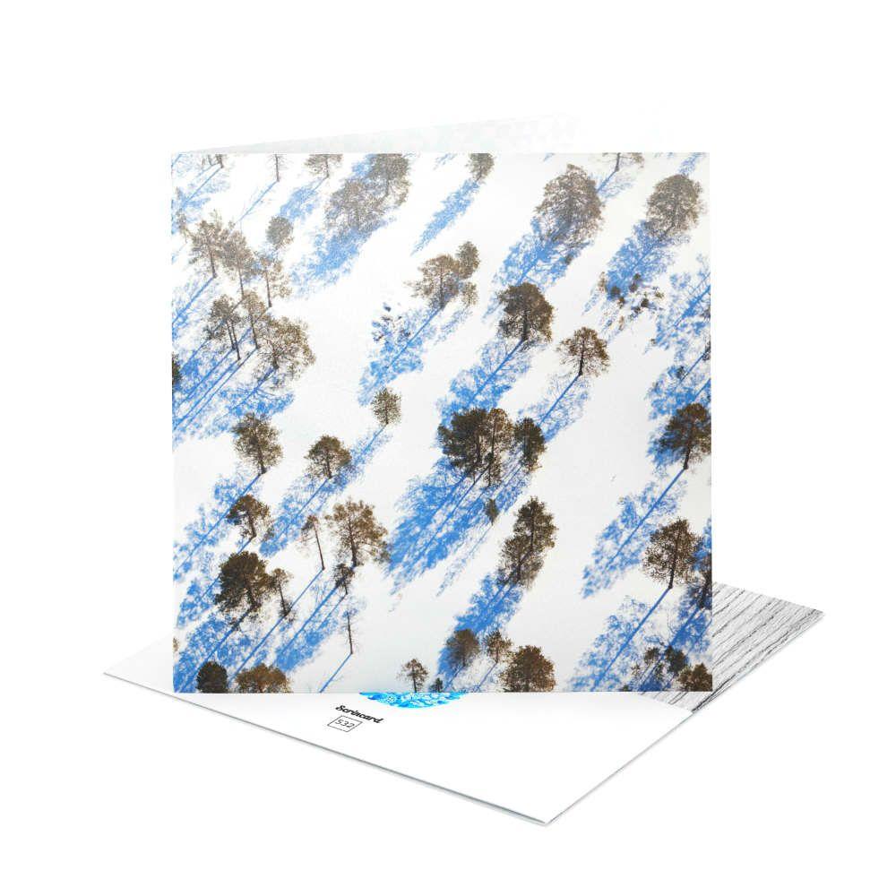 Открытка Scrincard Снежный лесНовый год<br>Открытка Зима<br>Размер: 20 х 20 см.; Объем: None; Материал: Картон; Цвет: None;