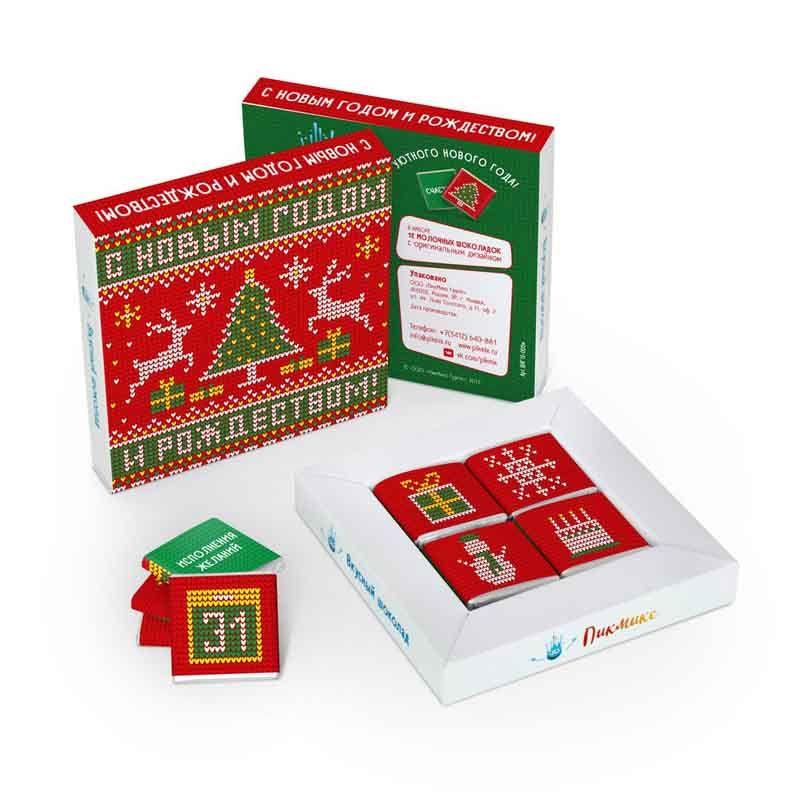 Шоколадный набор С Новым Годом и Рождеством, ВязаныйРождество<br>Шоколадный набор без оленей, но с шоколадом.<br>Размер: 10,8 х 10,8 см; Объем: None; Материал: None; Цвет: None;