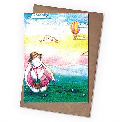 Поздравительная открытка Зайка ТильдаПодарки<br>Поздравительная открытка Зайка Тильда<br>Размер: None; Объем: None; Материал: Бумага; Цвет: Комбинированный;