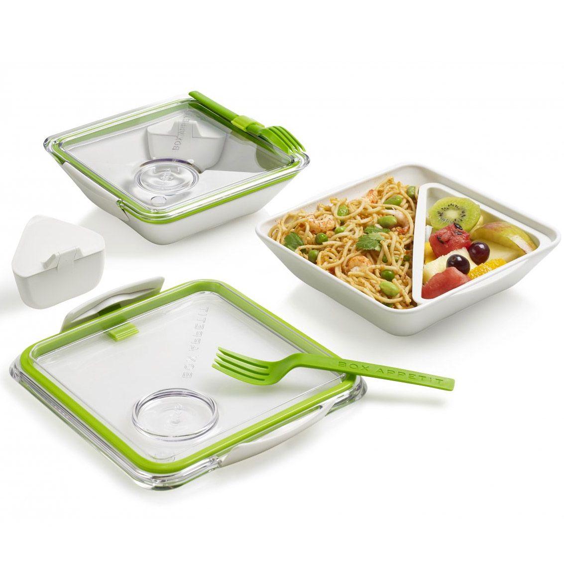 Ланч - бокс Box Appetit лаймПодарки<br>Ланч - бокс Box Appetit (лайм)<br>Размер: 19 х 19 х 5.5 см.; Объем: None; Материал: Полипропилен, силикон; Цвет: Белый / Зеленый;
