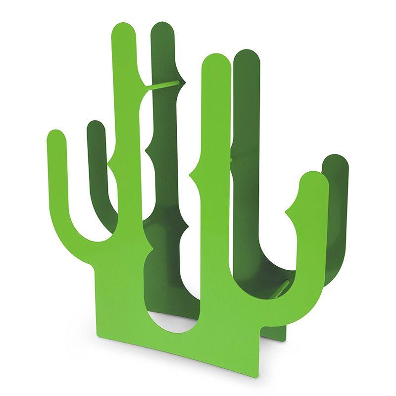 Держатель винных бутылок Cactus от J-meПодарки<br>Шипы нашего кактуса довольно остры и прочны, что делает их очень надежным способом для хранения бутылок. Cactus отличается не только красивым внешним видом, но и ярким и насыщенным цветом<br>Размер: 40 х 10 х 44 см; Объем: None; Материал: Сталь; Цвет: Зеленый;
