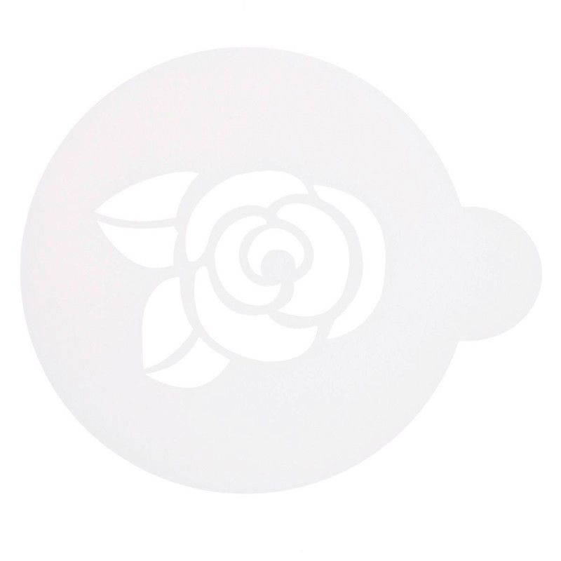 Трафарет на кофе и десерты РозочкаАксессуары для кофе<br>Трафарет на кофе и десерты - Розочка<br>Размер: None; Объем: None; Материал: Пластик; Цвет: None;