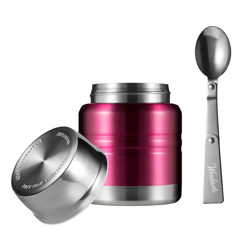 Термос для еды Lunch Spot, бургунди металлик, 350 млПодарки<br>Термос для еды Lunch Spot прекрасно подойдет для подарка, складная ложка и яркий цвет будут неплохим дополнением. Размеры термоса легко поместятся в самую изящную сумку, а настроение будет лучше, если обед останется горячим на весь день.<br>Размер: 115 х 170 х 115 см; Объем: 350 мл; Материал: Нержавеющая сталь; Цвет: None;