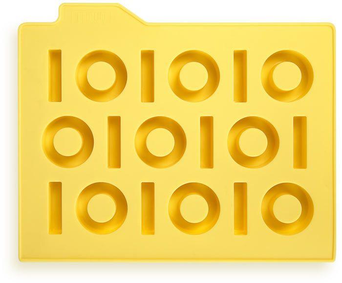 Форма для льда Бинариус, желтаяПодарки<br>Форма для льда яркая и практичная.<br>Размер: None; Объем: None; Материал: Силикон; Цвет: Желтый;