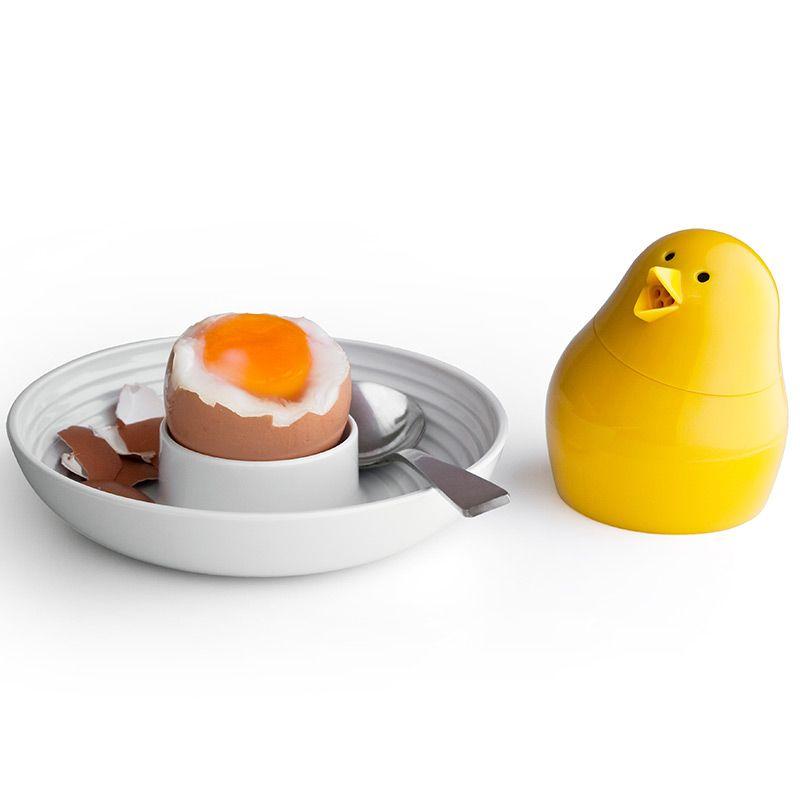 Набор для завтрака и специй Jib-Jib бело-желтаяЕмкости для специй<br>Набор для завтрака и специй Jib-Jib бело-желтая<br>Размер: 8 х 12 х 8 см.; Объем: None; Материал: Пищевой пластик, керамика; Цвет: Белый / Желтый;