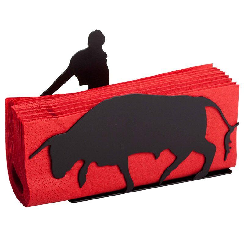 Подставка для салфеток RedПодставки для кухонных приборов<br>Подставка для салфеток Red<br>Размер: 20 х 13,5 х 5 см; Объем: None; Материал: Металл; Цвет: Черный;