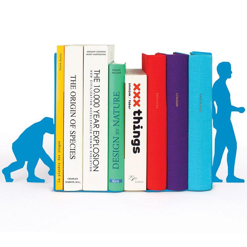 Ограничитель для книг Evolution голубойПодарки<br>Ограничитель книжный Evolution - всем поклонника Дарвина. Специальные опоры, изготовленные из металла, будут надежно фиксировать книжки по бокам, а прочное основание не даст им упасть.<br>Размер: 17.6 х 11 х 0.3 см; Объем: None; Материал: Металл; Цвет: Голубой;