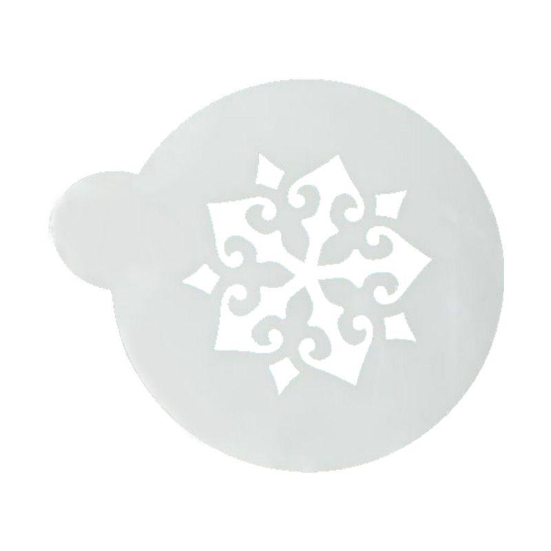 Трафарет на кофе и десерты SnowflakeАксессуары для кофе<br>Трафарет на кофе и десерты - Snowflake<br>Размер: None; Объем: None; Материал: Пластик; Цвет: Черный;