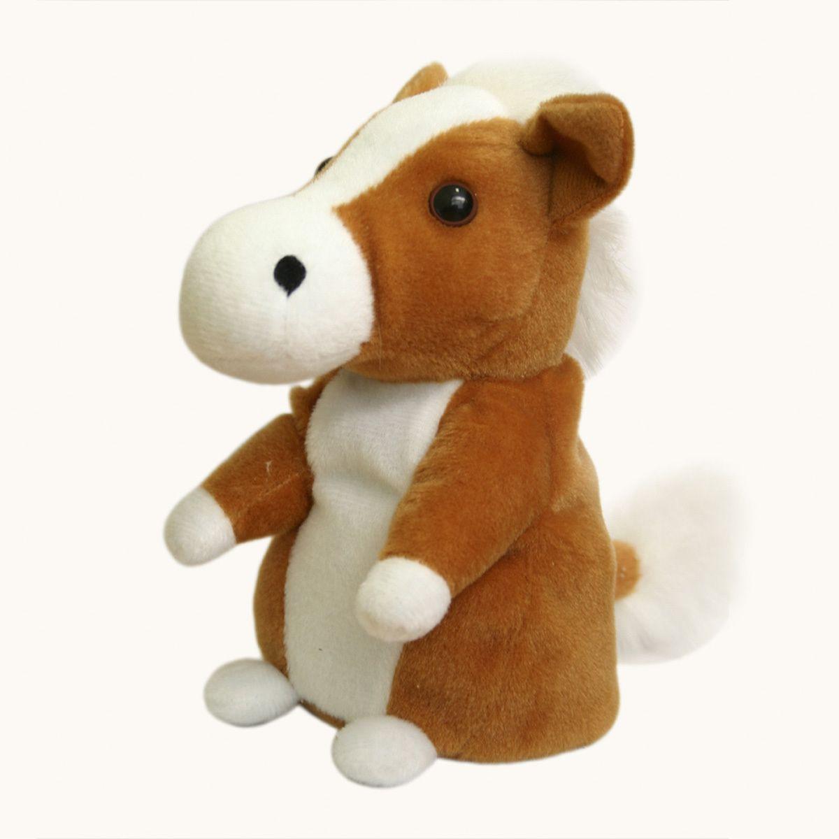 Интерактивная игрушка говорящая ЛошадьИнтерактивные игрушки<br>Говорящая Лошадка Woody`O`Time<br>Размер: 9 x 15 x 8.5 см; Объем: None; Материал: Искусственный мех, пластик, текстиль; Цвет: Коричневый;