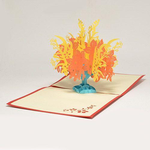 Объемная открытка 3D Цветущее дерево