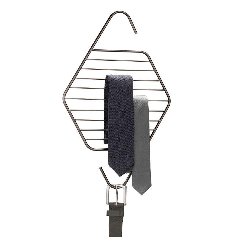 Органайзер для галстуков и ремней Pedant титанМужчине<br>Органайзер для галстуков и ремней PENDANT титан<br>Размер: 25.8 x 0.6 x 40.6 см; Объем: None; Материал: Металл; Цвет: None;