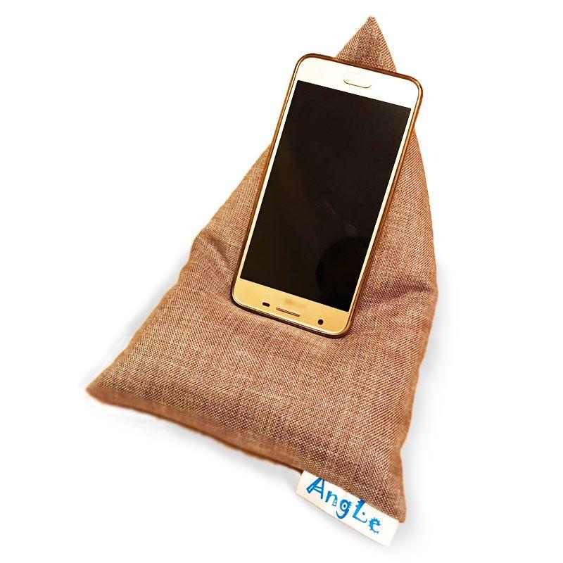 Текстильная подставка для телефона/минипланшета AngLeПодарки<br>Текстильная подставка для телефона очень удобная и оригинальная.<br>Размер: 25 х 18 см; Объем: None; Материал: Хлопок; Цвет: Коричневый;