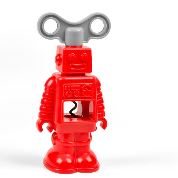 Штопор RoBottleПробки для бутылок<br>Штопор Робот (RoBottle)<br>Размер: 5.8 х 7.6 х 16.4 см.; Объем: None; Материал: Сталь, пластик; Цвет: Красный;