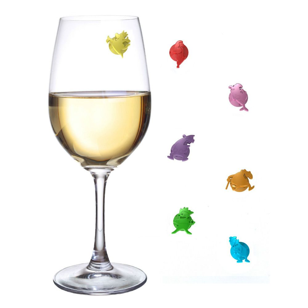 Маркеры для бокалов Wine charms Unique glassШефу<br>Маркеры для бокалов Wine charms Unique glass<br>Размер: None; Объем: None; Материал: Силикон; Цвет: Красный / Желтый / Зеленый / Лиловый / Синий / Розовый;