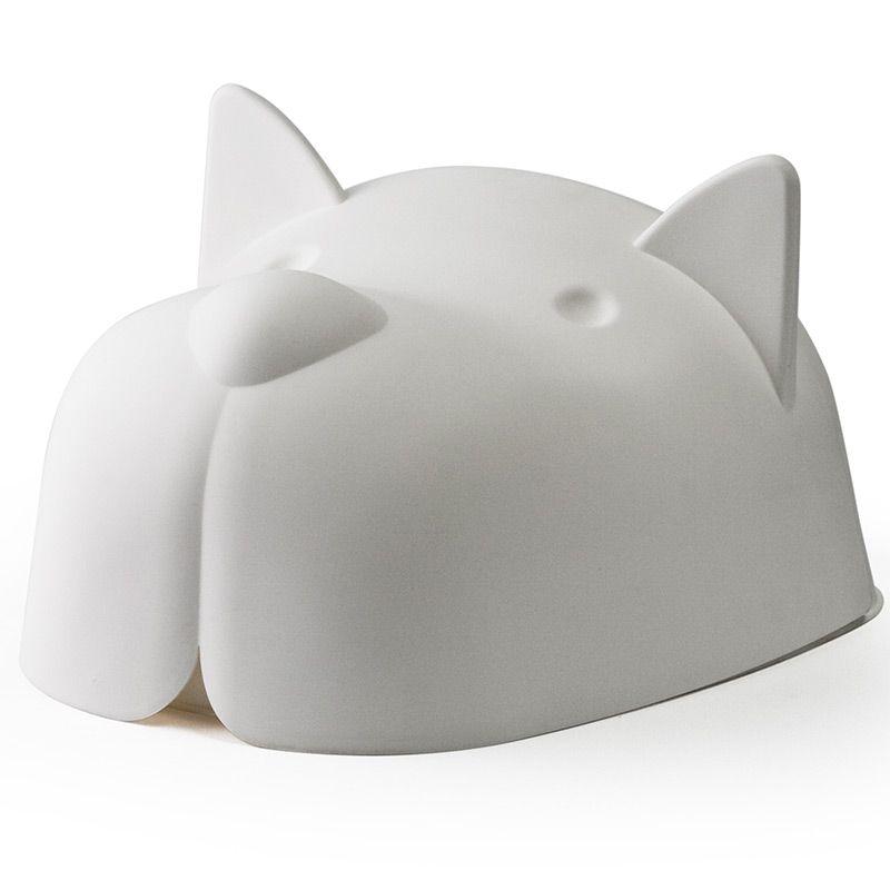 Миска для собаки с крышкой Mr.Dog белая