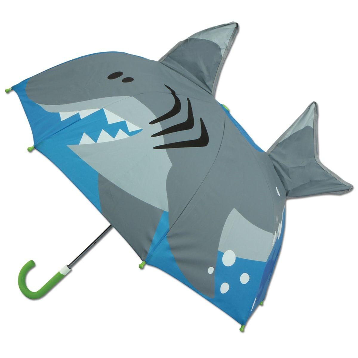 Зонт детский АкулаРебенку<br>Зонт детский Акула<br> <br> С таким зонтиком не страшно и под дождем прогуляться, необычный подарок каждому ребенку.<br>Размер: 60 х 66 см; Объем: None; Материал: Полипропилен; Цвет: Голубой;
