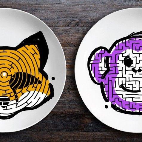 Набор тарелок ЗооЛаб - Лис+Обезьяна