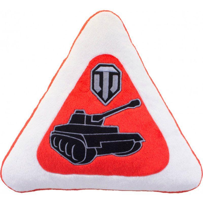 Купить со скидкой Декоративная плюшевая подушка World of Tanks с силуэтом танка