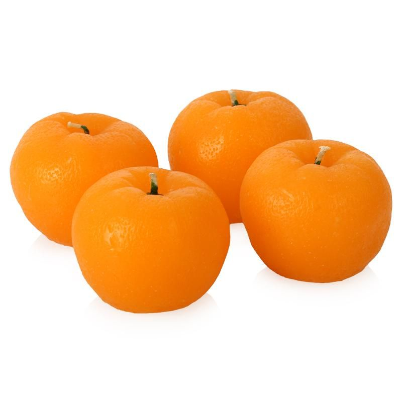 Свеча ароматизированная Мандарин, 4 шт.Красота и уход<br>Свеча ароматизированная Мандарин<br>Размер: None; Объем: None; Материал: Воск; Цвет: Оранжевый;