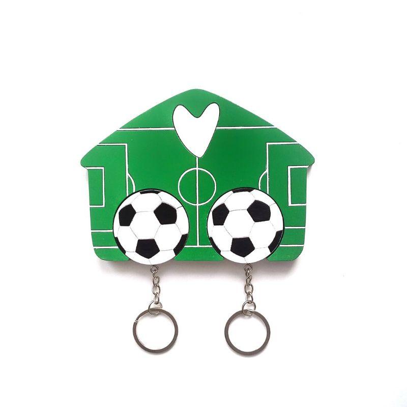 "Ключница деревянная на два ключа ""Футбол"" от 1 200 руб"