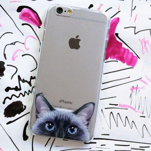 Чехол Питомцы для iPhone 7 (Пушистик)Подарки<br>Прекрасный чехол для любителей котов и котиков.<br>Размер: None; Объем: None; Материал: Пластик; Цвет: Прозрачный;