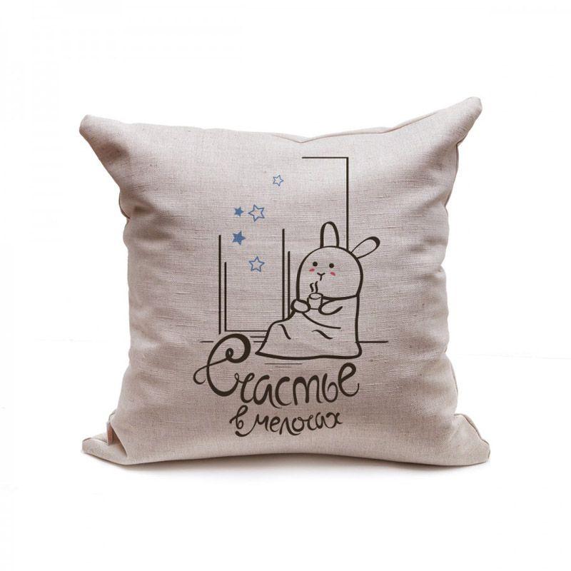 Подушка декоративная Кроль под пледомДетям на новый год<br>Кроль под пледом, а вы на подушке.<br>Размер: 45 х 45 см; Объем: None; Материал: Лен; Цвет: None;