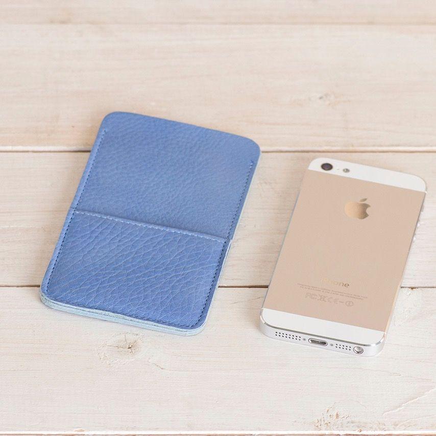"""Кожаный чехол для iPhone """"Walster"""" (Модификация: iPhone 5/5s, Цвет • Голубой)"""