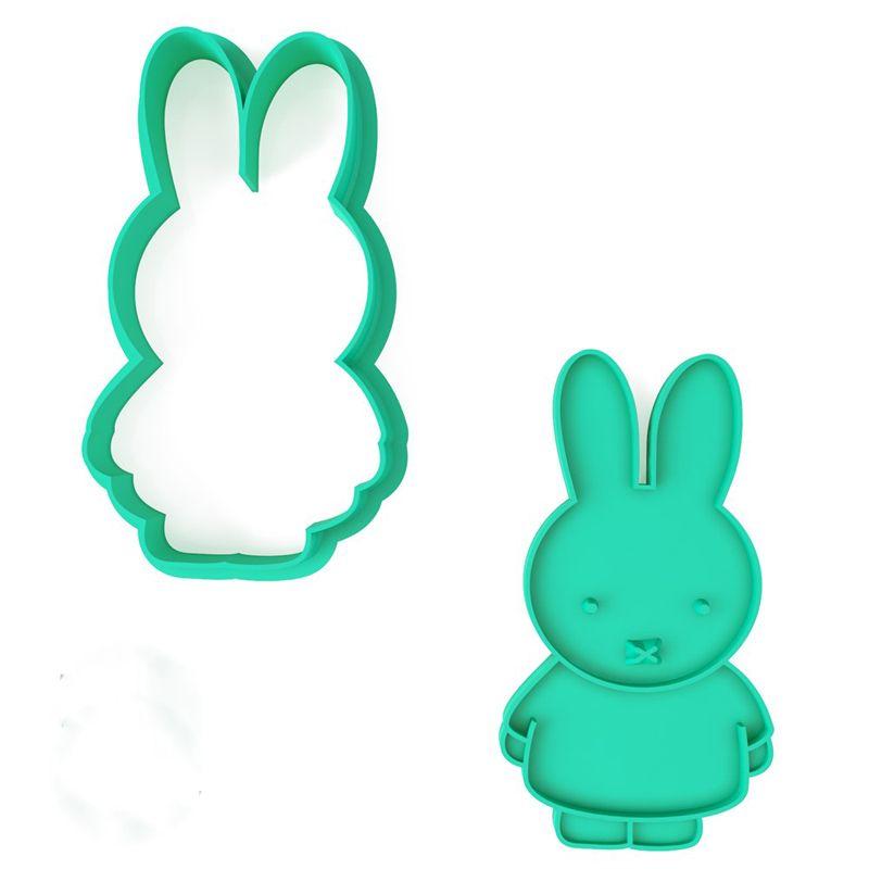 Форма для печенья Крольченок МифиПодарки<br>Уникальный подарок для малышей и их мамочек. Можно подарить крольчат под Новый год и Рождество. Прекрасный подарок для маленьких зайчат.<br>Размер: 10 х 5 см; Объем: None; Материал: Пластик; Цвет: Зеленый;