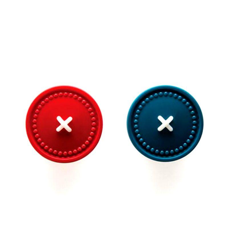Держатели для полотенец Button up разноцветныеИнтерьер<br>Держатели для полотенец Button up разноцветные<br>Размер: 5 x 2.5 x 2.5 см; Объем: None; Материал: Пластик, магнит; Цвет: Разноцветный;