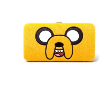 Кошелек Adventure Time Jake Bigface Girl Hinge WalletПодарки<br><br>Размер: 18 x 9.5 x 2 см; Объем: None; Материал: Полиэстер; Цвет: Желтый;