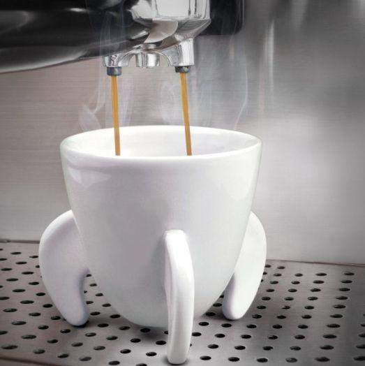 Набор чашек для эспрессо Blast offСтрельцу<br>Набор чашек для Эспрессо Blast off<br>Размер: 15.3 х 9 х 9 см.; Объем: None; Материал: Фарфор; Цвет: Белый;