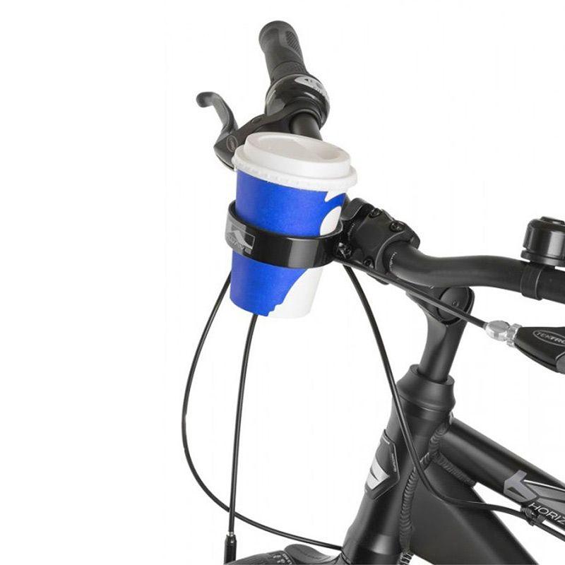 Держатель для стакана на велосипед M-WaveПодарки<br>Подставка под кружку для утреннего кофе.<br>Размер: 8,5 х 8 см.; Объем: None; Материал: Алюминий; Цвет: Черный;
