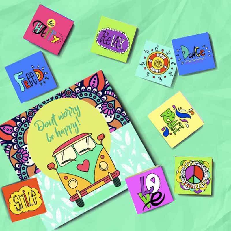 Шоколадный набор Be Happy!Подарки<br>Шоколадный набор для всех счастливых.<br>Размер: 12 х 12 см; Объем: None; Материал: None; Цвет: None;
