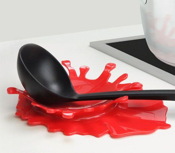 Подставка для ложки SplashПосуда<br>Подставка Сплэш (Splash)<br>Размер: 19.5 x 2.5x 15 см.; Объем: None; Материал: Пластик; Цвет: Красный;