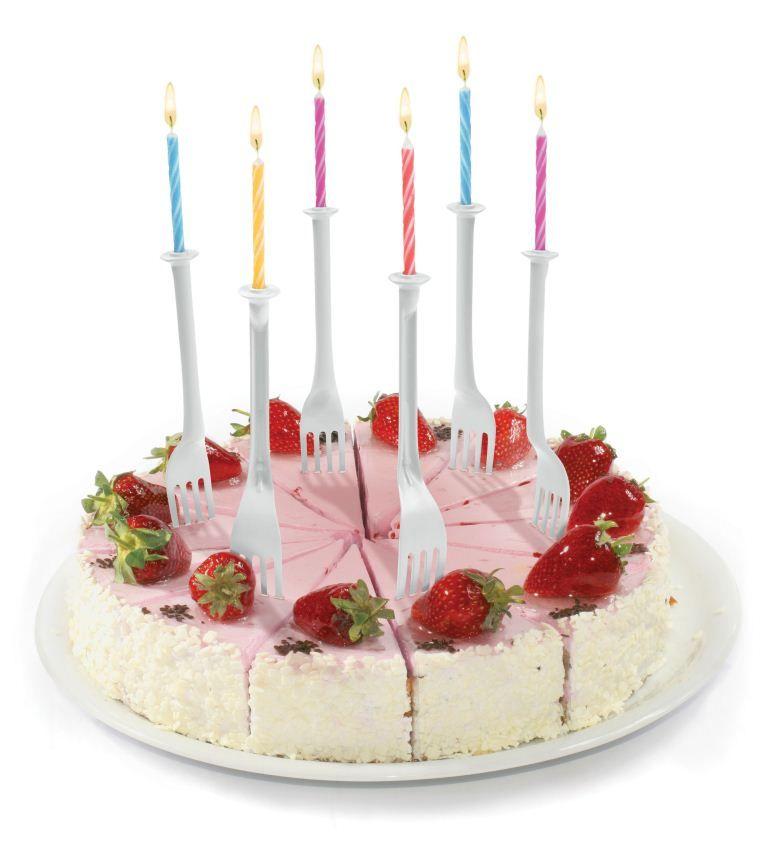 Подсвечники и свечи для торта Light bitesДомашний уют<br>Свечи и подсвечники Вилочки (Light Bites)<br>Размер: None; Объем: None; Материал: Пластик; Цвет: Белый;