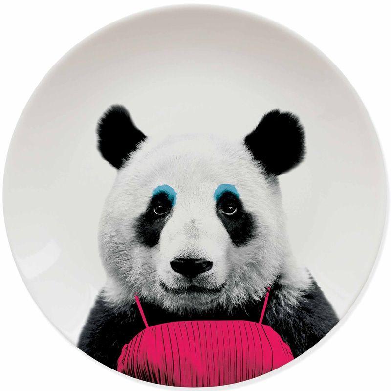 Тарелка Wild Dining пандаПодарки<br>Тарелка Wild Dining панда<br>Размер: 3.4 x 25 x 25 см.; Объем: None; Материал: Керамика; Цвет: None;