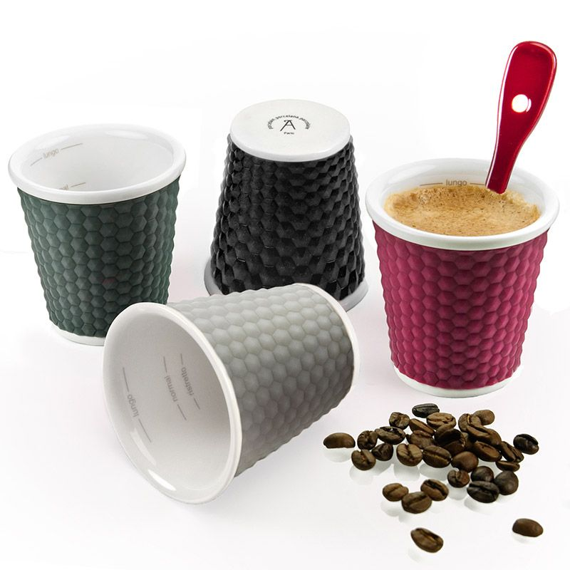 Набор из 4-х чашек Соты (Honeycomb) (Жемчужный/серый/черный/фиолетовый)