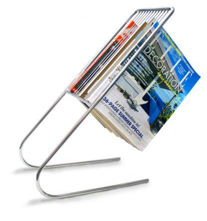 Держатель для журналов FloatПодарки<br>Держатель для журналов знаменит среди книголюбов.<br>Размер: 36.6 x 17 x 51 см; Объем: None; Материал: Хромированная сталь; Цвет: None;